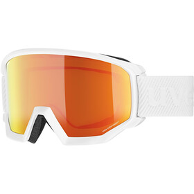 UVEX Athletic CV Maschera, white/mirror orange